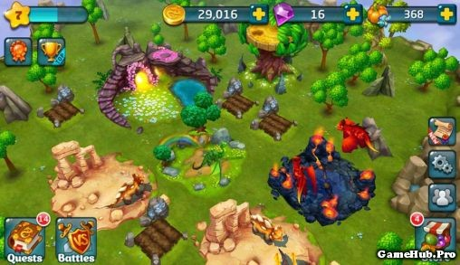 Tải game Dragons World hack full tiền cho Android apk