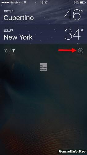 Thủ thuật thêm và xem thời tiết Việt Nam trên iPhone