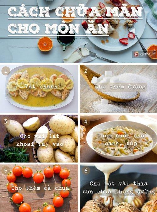 Hướng dẫn cách xử lý khi món ăn bị Mặn cực hữu ích