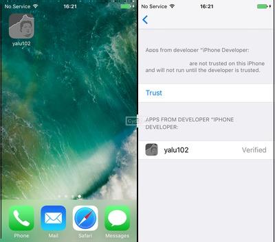 Hướng dẫn Jailbreak iOS 10.2 bằng Yalu102 dễ dàng nhất