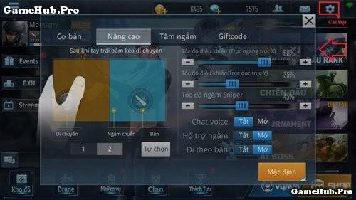 Phục Kích Mobile Hướng dẫn cách nhập Giftcode để nhận Quà
