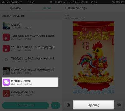 Hướng dẫn tải và cài giao diện tết nguyên đán 2017 cho Oppo