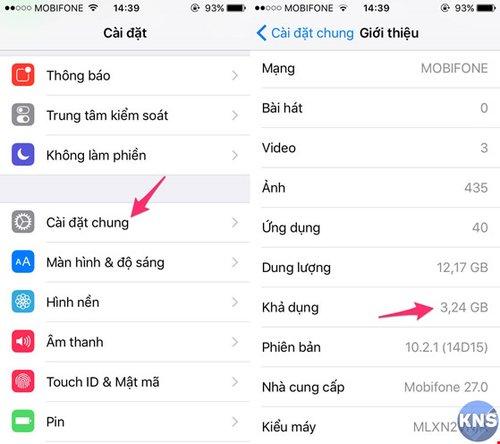 Thủ thuật tăng bộ nhớ iPhone không cần xóa ứng dụng