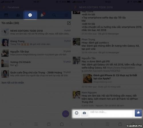 Thủ thuật dùng Facebook không cần cài Messenger trên iPhone