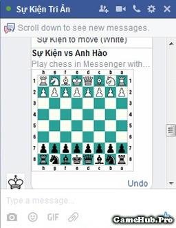 Hướng dẫn cách chơi cờ vua trên Facebook Messenger