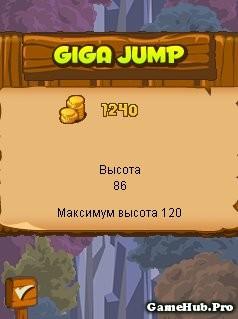 Tải game Giga Jump hải ly chinh phục bầu trời cho Java