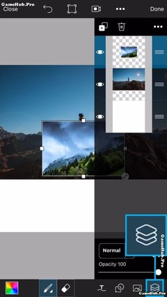 Các bước tạo bức ảnh thế giới lộn ngược bằng PicsArt