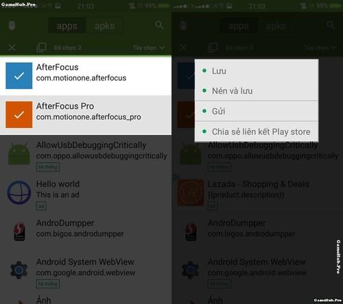 Hướng dẫn cách chia sẻ ứng dụng đã cài trên Android
