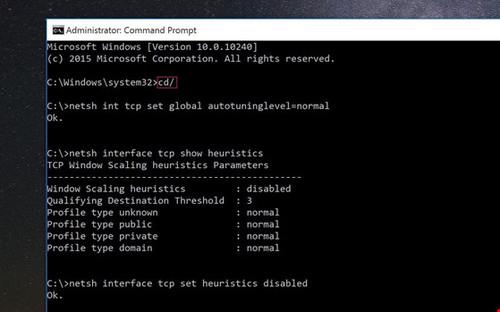 Những lệnh Command Prompt giúp tăng tốc kết nối mạng