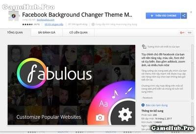 Thay đổi giao diện Facebook trên PC trình duyệt Chrome