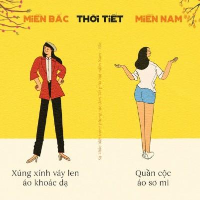 Sự khác biệt kinh ngạc giữa tết Miền Bắc và Miền Nam