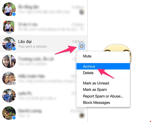 Cách ẩn tin nhắn quan trọng trên Facebook Messenger