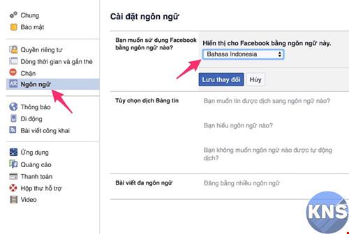 Hướng dẫn cách đổi tên Facebook 1 chữ trên Máy Tính