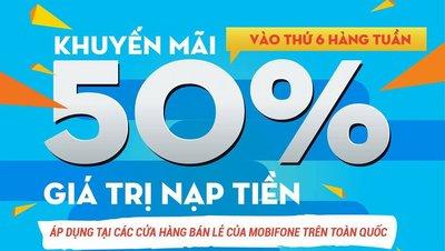 Cách đăng ký khuyến mãi Ez 50% thẻ nạp mỗi tuần Mobifone