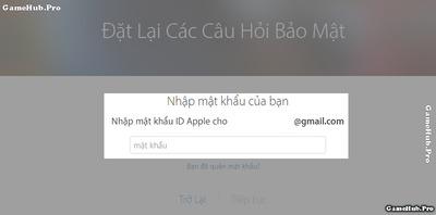 Hướng dẫn lấy lại câu hỏi bảo mật của Apple ID nhanh chóng