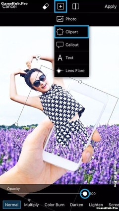 Cách để tạo ảnh chui ra khỏi điện thoại bằng PicsArt