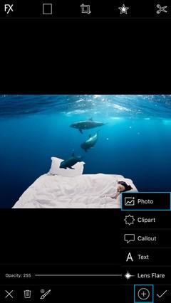 Hướng dẫn tạo ảnh hiệu ứng dưới biểu sâu bằng PicsArt