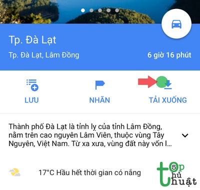 Cách sử dụng Google Maps không cần mạng trên iPhone