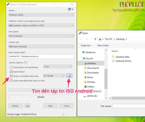 Thủ thuật chạy Android 6.0 bằng USB trên Máy Tính