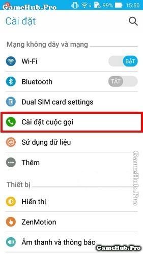 Bật Tắt tính năng tự động ghi âm cuộc gọi trên Zenfone