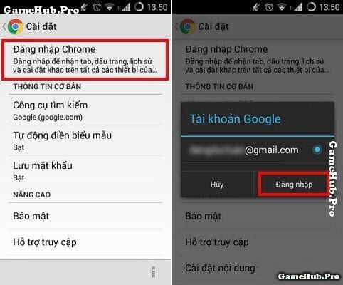 Hướng dẫn đồng bộ hóa Google Chrome trên máy Android