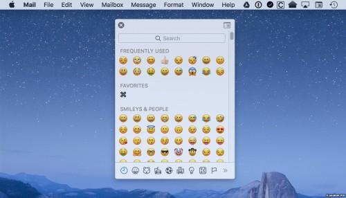 Cách chèn biểu tượng cảm xúc Emojis trên máy MAC
