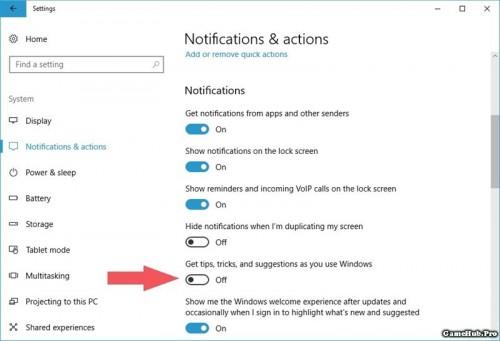 Cách tắt toàn bộ quảng cáo, thông báo trên Windows 10