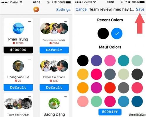 Cách thay đổi màu Facebook Messenger trên Android iOS
