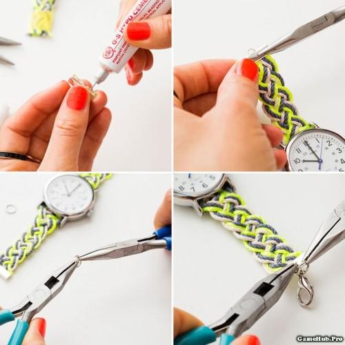 Hướng dẫn cách tết dây đồng hồ đeo tay từ dây gai cực đẹp