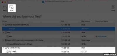 Khôi phục dữ liệu đã xóa trên USB, Thẻ nhớ bằng EaseUS