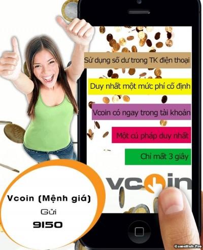 Hướng dẫn cách mua thẻ Vcoin (VTC) bằng tin nhắn Viettel