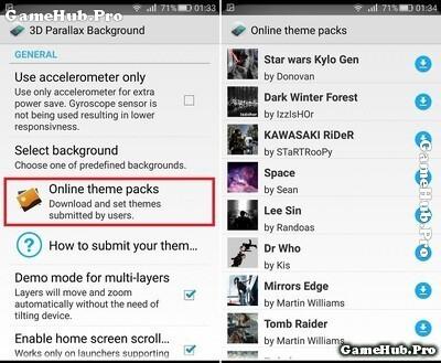 Hướng dẫn cài hình nền 3D cực độc trào lưu trên Android