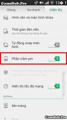 Thủ thuật hiển thị phần trăm pin trên điện thoại Oppo
