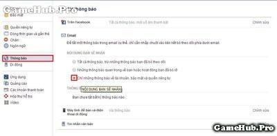 Thủ thuật hủy nhận những Email thông báo từ Facebook