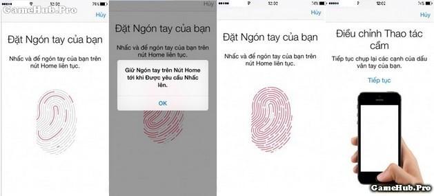 Khóa bảo mật vân tay, kích hoạt Touch ID trên iPhone