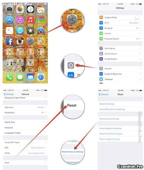 Khắc phục lỗi không thể nhận, gửi tin nhắn trên iPhone