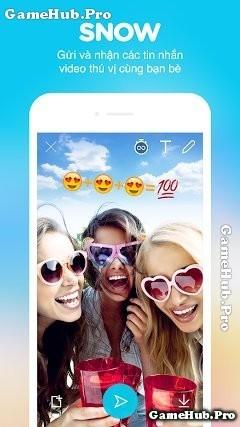 Tải SNOW Apk - Ứng dụng chụp ảnh nhãn dán cho Android
