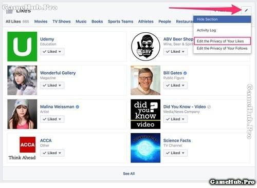 Thủ thuật ẩn hoạt động Like, Follow Fanpage trên Facebook