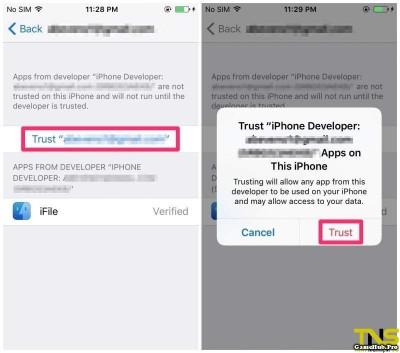 Hướng dẫn cách cài iFile cho iPhone/iPad chưa Jailbreak