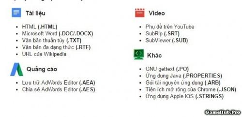 Cách dùng Google Translate để dịch tài liệu các định dạng