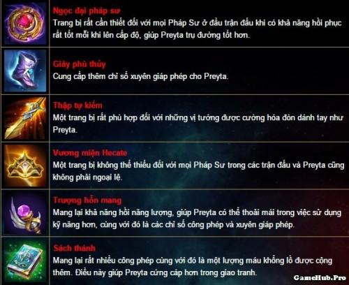 Liên Quân Mobile: Cách chơi và lên đồ tướng Preyta