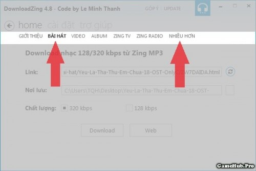 Cách tải nhạc 320 kbps trên Zing MP3, Nhaccuatui cho PC