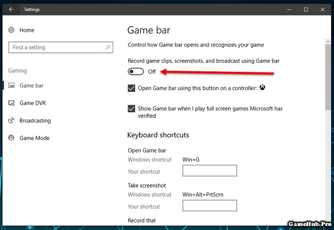 Cách tắt Game DVR và Game Bar trên Windows 10 Creators