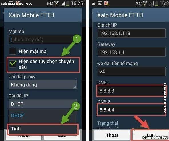 Hướng dẫn 2 cách thay đổi DNS cho điện thoại Android
