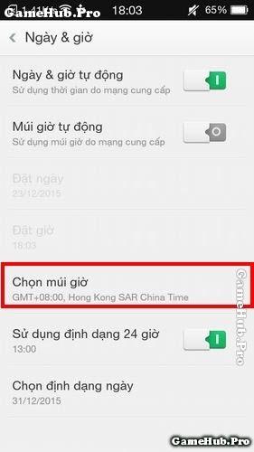 Thủ thuật cách cài đặt múi giờ trên điện thoại Oppo