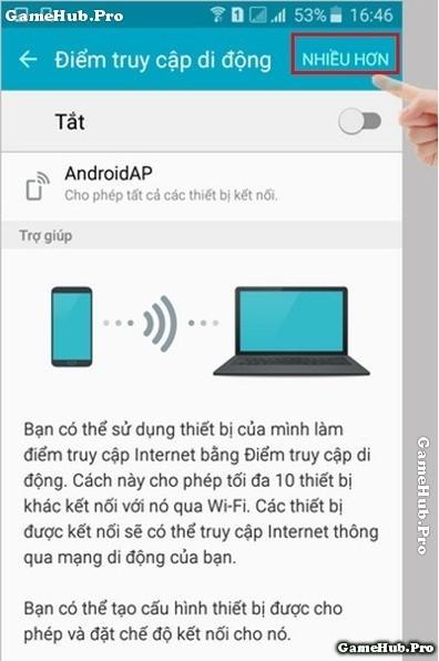 Hướng dẫn cách phát Wifi trên Samsung Galaxy J7 2016