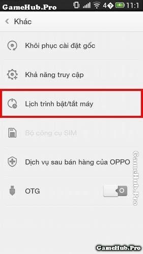 Mẹo cài đặt thời gian tắt - mở máy điện thoại Oppo