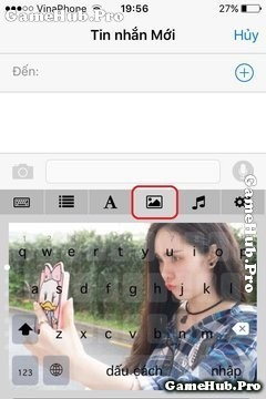 Hướng dẫn chèn hình vào bàn phím trên điện thoại iPhone
