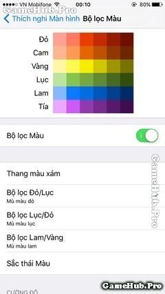 Hướng dẫn thủ thuật chỉnh màu sắc màn hình trên iOS 10