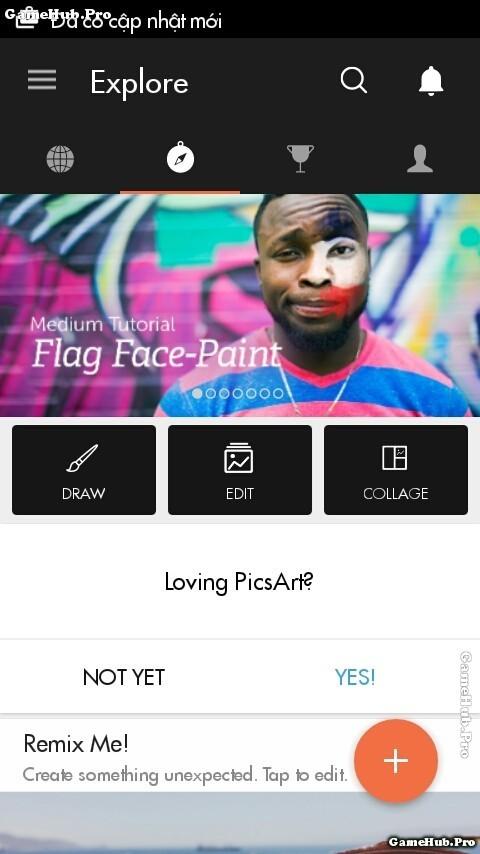 Hướng dẫn cách ghép hình xăm vào ảnh ứng dụng PicsArt